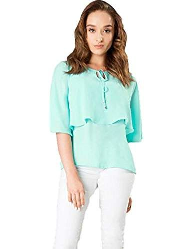 784d206904d747 J B Fashion Women Tunic Short Top For Jeans Plain Diamond Creap Top For Daily  wear Stylish