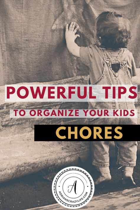 Powerful Tips to Organize Your Kids Chores