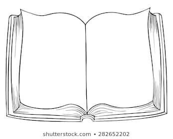Vector Cartoon Open Book Drawing Stock Vector Royalty Free 282652202 Open Book Drawing Book Drawing Open Book