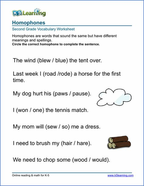 Printable Vocabulary Worksheets For Different Grades Word Usage Synonyms Antonyms Homophones Spell Vocabulary Worksheets Vocabulary Elementary Worksheets Homophones worksheets 4th grade
