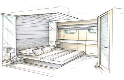 Interior Design Bedroom Sketches gambar perspektif kamar tidur 2 titik hilang | perspective