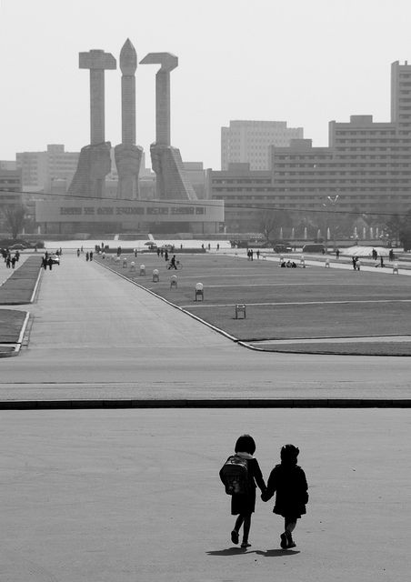One thing is sure about Pyongyang: it is a safe city! © Eric