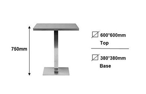 Bartisch Bistrotisch.Bartisch Bistrotisch Tisch Weiß 60x60x75 M Bt60 1855