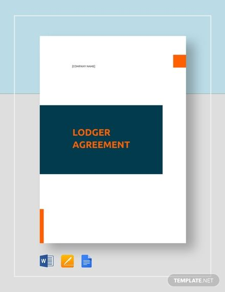 Lodger Agreement Template Templates Agreement Graphics Layout
