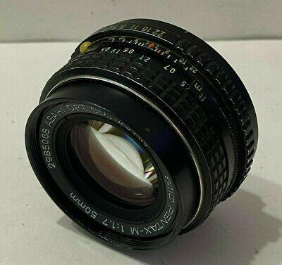 Smc Asahi Pentax M 50mm F1 7 Pk Mount Prime Lens 068 Camera Lenses Prime Lens In Ear Headphones