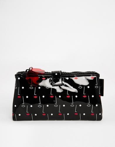 Lulu Guinness Two Face Printed Double Make Up Bag #bag #luluguinness #women #designer #covetme