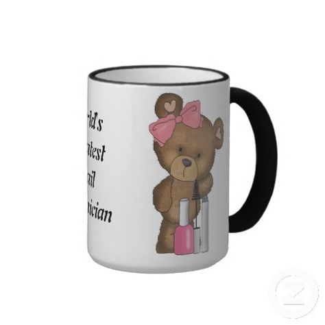Shop World's Greatest Nail Technician Mug created by Doodlesvarietymugs.