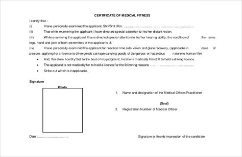 medical certificate template pdf format free australia fake - medical fitness certificate