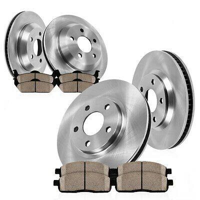 Ceramic Pads for 2006 2007 2008-2017 Toyota RAV4 Front /& Rear Brake Rotors