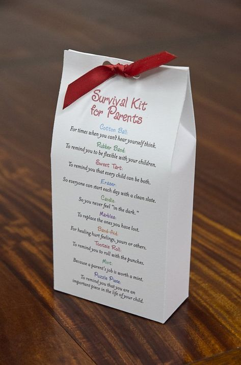 What a sweet and touching gift to give to a parent regardless of age or number of children. Heartfelt and humorous at the same time, this is sure to bring a smile to their face. So easy for you to put together…All you have to do is print out the template on 8x11 paper or card stock,