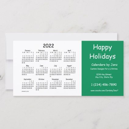 2022 Business Calendar By Janz Happy Holidays Holiday Card Zazzle Com Happy New Year Cards Business Calendar Holiday Cards