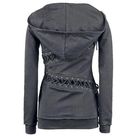 I like this hoody and the one with the side zippers:) $19.99 Trendy Hooded Long Sleeve Lace-Up Solid Color Women's Hoodie
