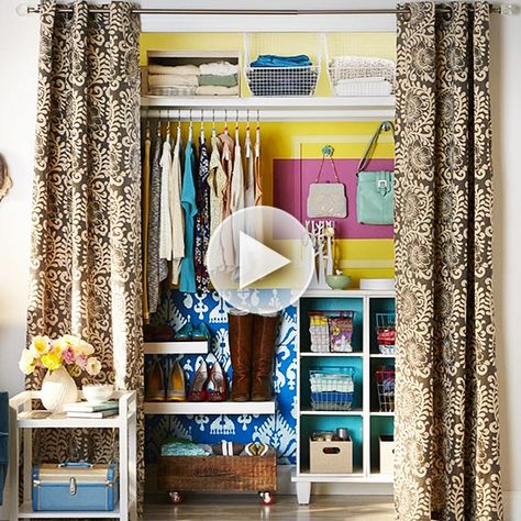 Watch: Organize your clothes neatly in your cloest with these tips! http://www.bhg.com/videos/m/83871858/clothes-closet-tips.htm?socsrc=bhgpin020215clothesclosettips