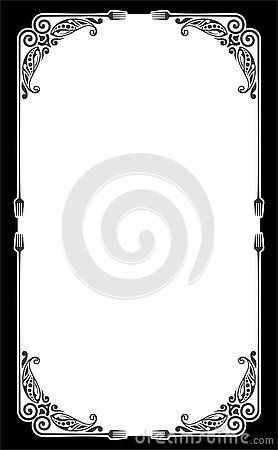 Blank Template Of Menu Card Background With Frame A Cute And Fancy Page Frame For Restaurant Frame Template Restaurant Menu Card Menu Cards