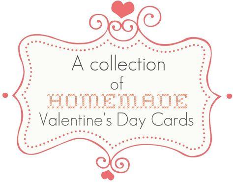 Homemade Valentine's Day Card Ideas via Nest of Posies