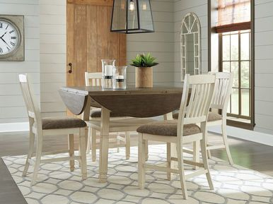 f894e1c01588 Bolanburg Two-tone 5 Pc. Round Drop Leaf Counter Height Dining Set ...