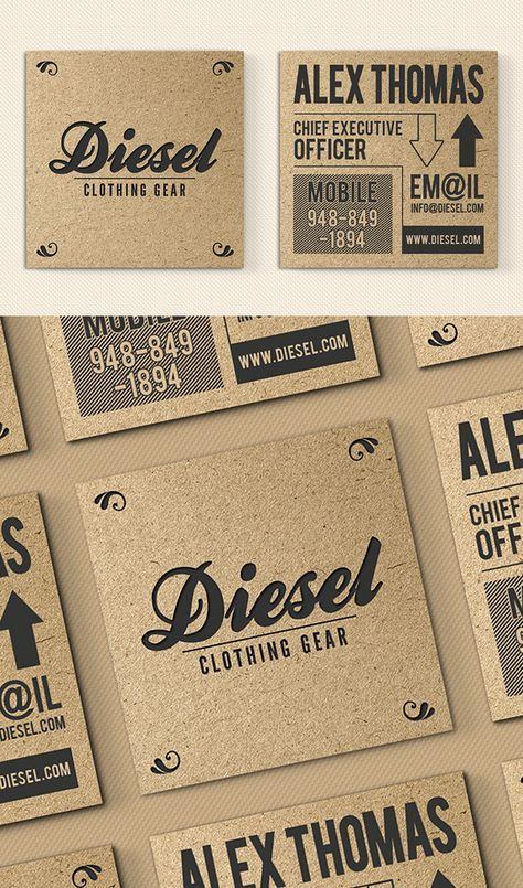 Iconic Kraft Paper Business Card Carte De Visite Carte Visite