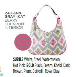 Initials, Inc. Hobo bag in Gray Ikat  www.myinitialsinc.com/jgorgei