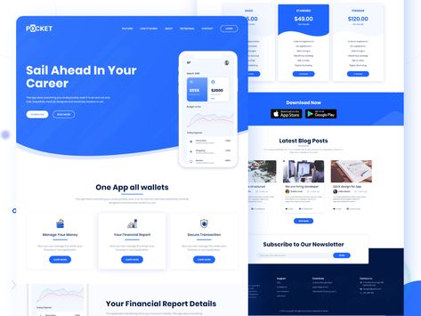 Pocket App Landing Page Freebie