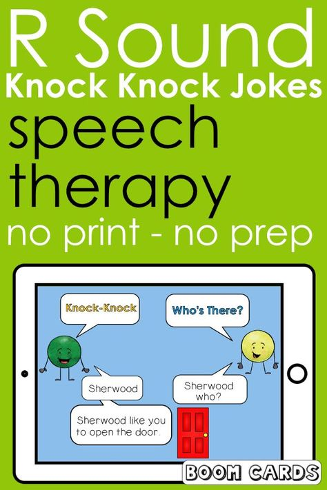 R Sound Knock Knock Jokes Boom Cards   Speech Therapy   Articulation