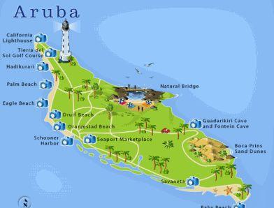 arubamap Aruba Island Pinterest Aruba map Delicious