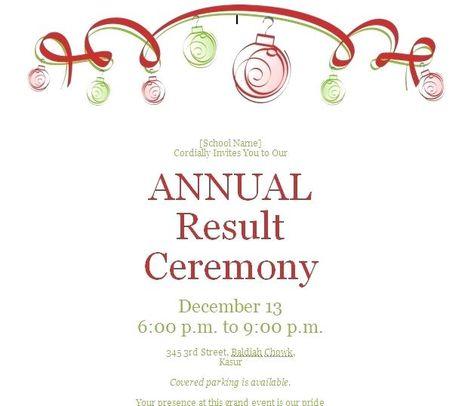 Invitation Card For Annual Function Brilliant School Annual