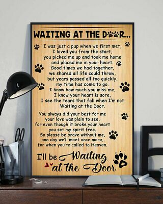 Waiting In The Door I Ll Be Waiting At The Door Dog Poster Dog Lover Poster Dog Poster Door Poster Dog Lovers