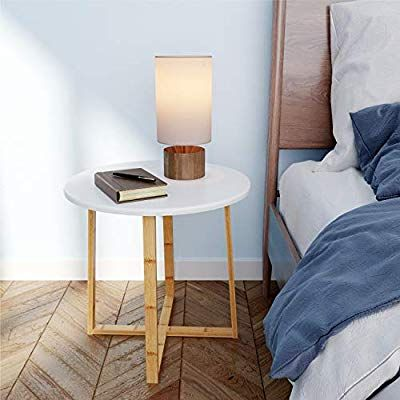 Bameos Side Table Modern Nightstand Round Side End Accent Coffee Table For Living Room Bedroom Balcony Fa Modern Side Table Living Room Table Modern Nightstand