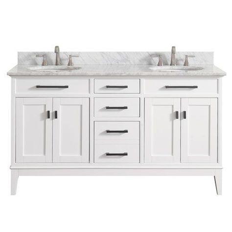 Avanity Madison Vs60 Wt C Madison White 61 Inch Double Sink Vanity