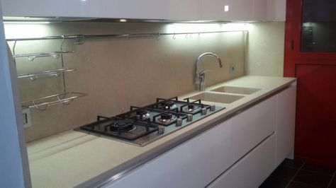 Alzatina Cucina Marmo Di Carrara - Landhausstil