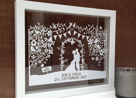 Beautiful wedding Papercut. Personalised with names and photo! MUST GET THIS!!!
