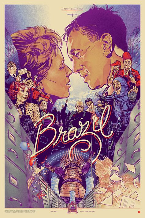BRAZIL, 1985. Directed by Terry Gilliam, starring Jonathan Pryce. Click through for screenplay by Terry Gilliam, Tom Stoppard & Charles McKeown.