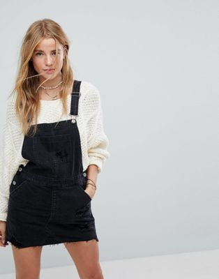 on sale latest fashion new images of Hollister Denim Dungaree Dress | Denim pinafore dress outfits ...