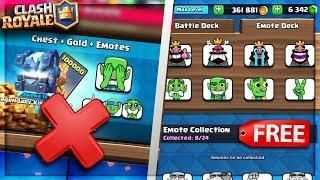 Warning Do Not Buy The New Emotes In Clash Royale Get Them For