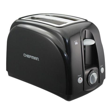 Chefman Color Splash Wide Slot Toaster Black Toaster Red