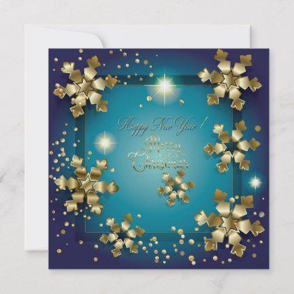 Merry Christmas Happy New Year 2020 Xmas Note Card Zazzle Com Xmas Invitations Merry Christmas And Happy New Year Christmas Magic
