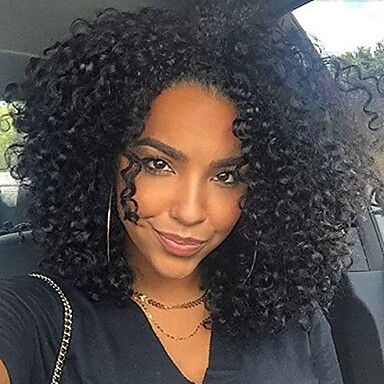 41 59 Synthetic Lace Front Wig Afro Curly Layered Haircut Lace Front Wig Short Natural Black Synthetic Hair 12 Inch Women S Women Black Sylvia Natural Hair Styles Curly Hair Styles Naturally Hair Styles