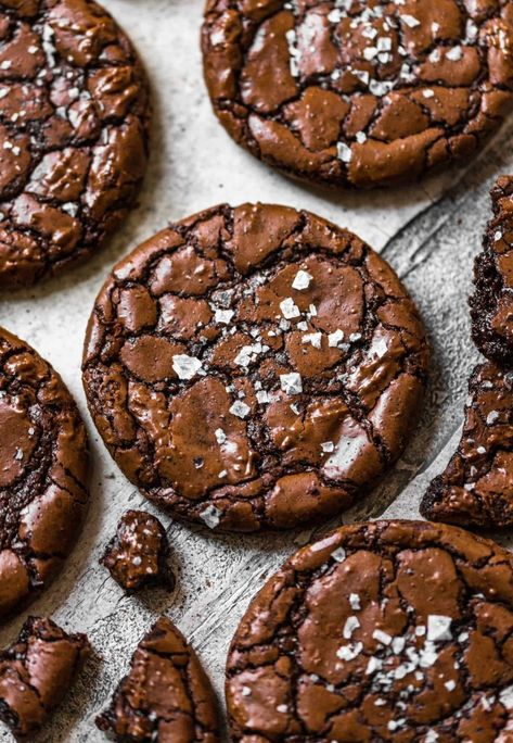 Just Desserts, Delicious Desserts, Dessert Recipes, Yummy Food, Tasty, 12 Cookie Recipe, Easy Cookie Recipes, Sugar Cookies Recipe, Crinkle Cookies