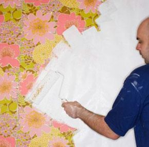 How To Paint Over Wallpaper Lovetoknow Painting Over Wallpaper Wallpaper Over Wallpaper Painting Wallpaper