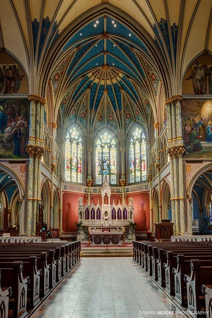 Interior of the Cathedral of St. John the Baptist in the Historic District of Savannah.