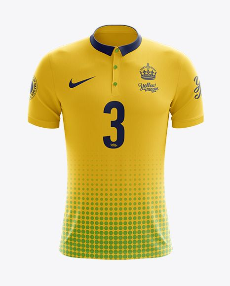 Download Men S Soccer Polo Shirt Mockup Front View In Apparel Mockups On Yellow Images Object Mockups Shirt Mockup Clothing Mockup Shirts