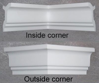 3 5 Crown Molding Corners Short 8 Long Sides 6 Styles Foam Crown Molding Crown Molding Crown Molding Styles