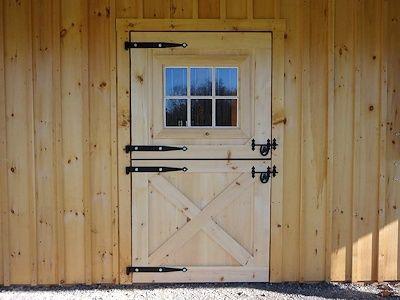 Pine Dutch Door With Window Diy Barn Door Hardware Exterior Barn Doors Dutch Doors Exterior