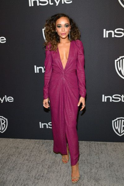 Ashley Madekwe attends the 2019 InStyle and Warner Bros. 76th Annual Golden Globe Awards Post-Party at The Beverly Hilton Hotel.
