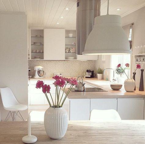 204 best weiße Küchen images on Pinterest Beautiful, Colors and Fit - küche ohne oberschränke
