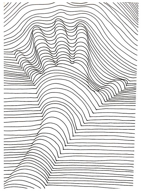 To print this free coloring page coloring op art illusion optique