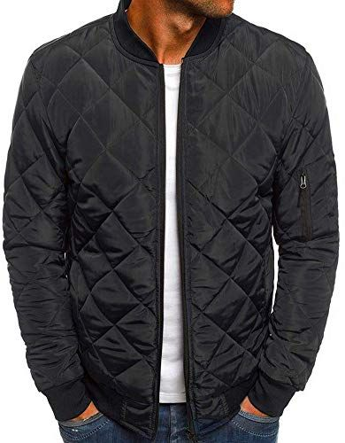 Buy Mens Flight Bomber Jacket Diamond Quilted Varsity