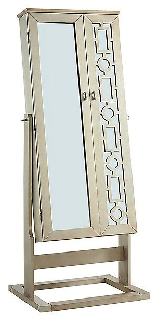 Powell Shimmer Cheval Mirror Ashley, Ashley Furniture Mirror Jewelry Armoire