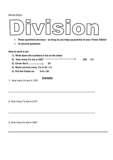 Mental Math Grade 1 Day 40 Mental Math Mental Maths Mental Math 1st Grade Math Worksheets Math Division