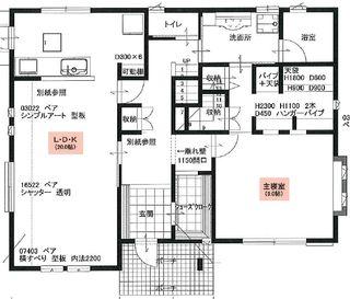 E382主寝室はldkと完全に分離したので 音や匂いで悩むこともありません マンション リノベーション 平面図 間取り図